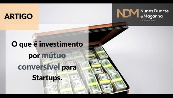 investimento por mútuo conversível startups