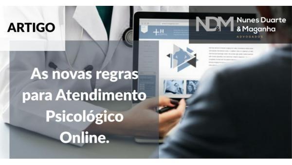 As novas regras para Atendimento Psicológico Online