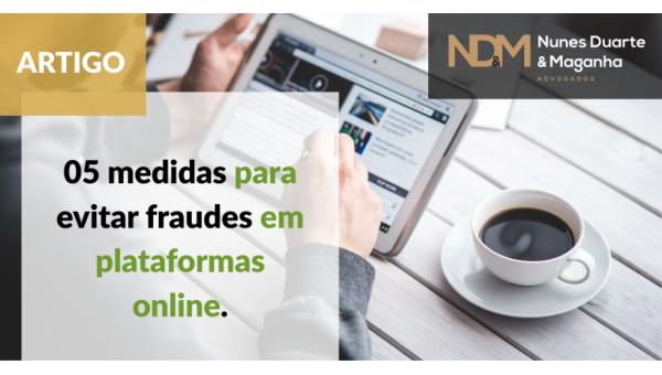 05 medidas para evitar fraudes em plataformas online
