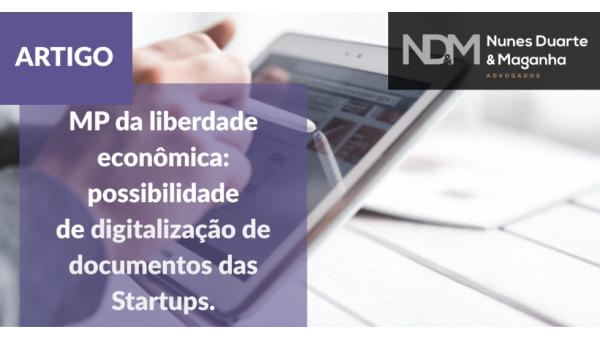 MP da liberdade econômica: possibilidade de digitalização de documentos das Startups
