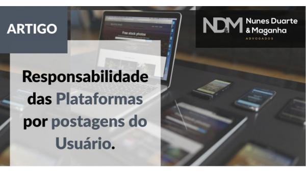Responsabilidade das plataformas por postagens do Usuário